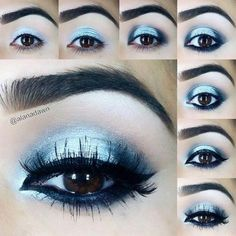 Blue Eyeshadow... it's a little too dark though