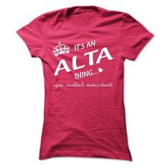 Its An ALTA Thing..!