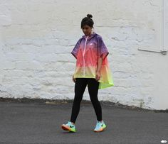 Street Look-Nike Sunset Poncho