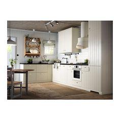 Ikea Landhausküche HITTARP Tolle Sockelleiste unten, Sockel tritt nicht mehr zurück sondern steht etwas vor. Schöne Optik!