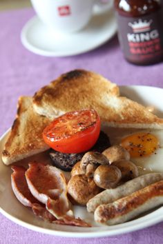 ... beans, buttered toast and the Scottish favourite - black pudding) More