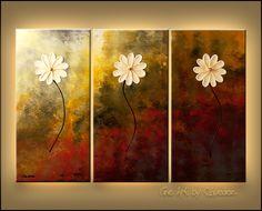 """Faith, Hope, Love"" - Abstract Painting"