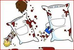 Almohadas en un mundo paralelo.