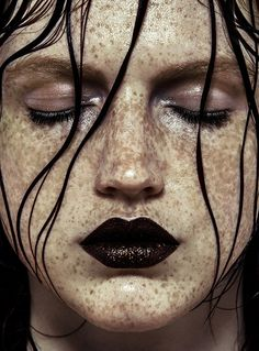 A face full of freckles, fierce make up and an endless amount of glitter in this exclusive online editorial for Schön! Beauty Photography, Glitter Photography, Portrait Photography, Fashion Photography, Shadow Photography, Fantasy Photography, Photography Lighting, Makeup Art, Hair Makeup