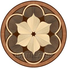 "Hardwood flooring Floor Medallion Inlay 24"" Charles #USAInlays"