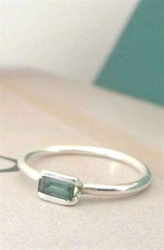 Sterling Silver Baguette Ring #SilverJewelry