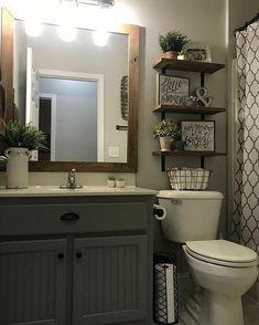 Diy Bathroom, Guest Bathrooms, Modern Bathroom, Bathroom Lighting, Bathroom Ideas, Bathroom Organization, Small Bathrooms, Bathroom Vanities, Shower Ideas