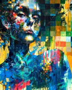 Minjae Lee, at just 22 years of age, has amassed an impressive portfolio of colorful portrait illustrations created mostly with acrylic paint and markers.