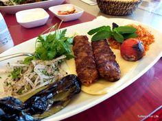 Adana Kebab At Kebap Time, #Fethiye, Turkey #TurkishFood #kebabs