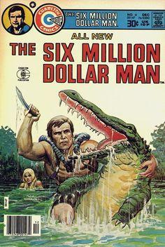 Six Million Dollar Man, The VG ; Charlton comic book for Like the Six Million Dollar Man, The VG ; Vintage Comic Books, Vintage Comics, Comic Books Art, Comic Art, Classic Comics, Classic Tv, Book Cover Art, Comic Book Covers, Gi Joe