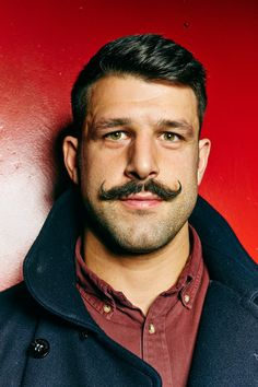Handlebar - not many men can pull it off but this one certainly did