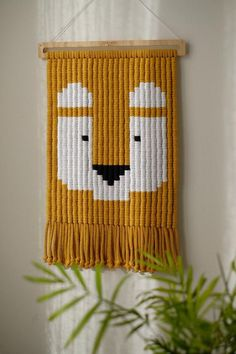 LANDO the lion macrame wall tapestry for kids image 1 Nachhaltiges Design, Wall Design, Tapestry Weaving, Wall Tapestry, Macrame Wall Hanging Diy, Art Textile, Macrame Design, Macrame Projects, Macrame Patterns