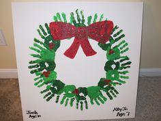 Create a class handprint wreath or have each student create his own. A very cute keepsake for teachers and parents!