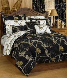 Ap Black And White Camo Bedding Set