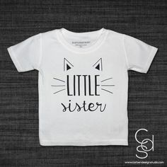 Here Kitty Kitty Little Sister Toddler T-shirt with Vinyl Heat Transfe – Carben Design Studio