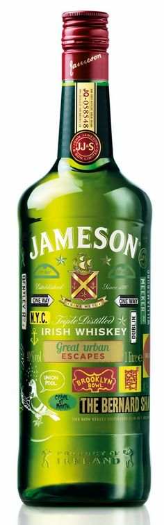 Jameson's 'Great Urban Escapes' Bottle Provides Guides to Some of the Coolest Cities of the World – POPSOP. Happy St. Paddy's Day PD