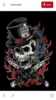 Switchblade by Derrick Castle Back Tattoos, Skull Tattoos, Badass Skulls, Castle Illustration, Totenkopf Tattoos, Gothic Fantasy Art, Skull Pictures, Skull Artwork, Skeleton Art