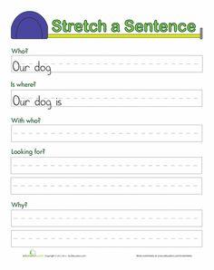 Worksheets: Stretching Sentences