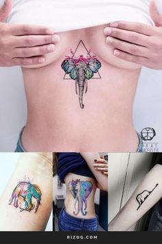 Tatuajes él elefante Moda Para Mujeres - Elephant Tattoo Designs for Women