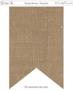"""Free printable burlap banner - Create your own words, or use our """"Give Thanks"""" printables for Thanksgiving."""