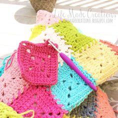 crochet mood blanket : april, may, june