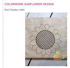 Just Peachy - Colorwork Sunflower