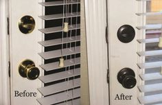 Spray paint hardware , We used Rustoleum's Oil Rubbed Bronze spray paint.