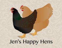 Custom Backyard Chicken Artwork of your flock. • Backyard Chickens and Bees