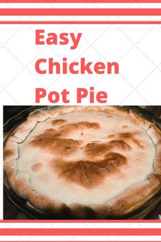 Craving a Chicken Pot Pie? Wanting something easy? Well, here ya go. This recipe is for you! Easy Chicken Pot Pie, Easy Chicken Recipes, Premade Pie Crust, Mixed Vegetables, Rotisserie Chicken, Picky Eaters, Pie Dish, Food Print, Cravings