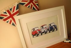 Fun, Unique picture of 3 Classic Minis in Red White & Blue. Great retro gift! I know how much you love these cute little minis! Maybe it was...