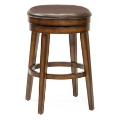 Hillsdale Beechland 26.5 in. Backless Swivel Counter Stool - 4515-826