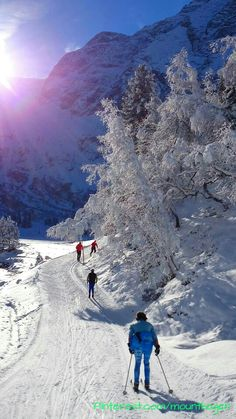 cross country skiing in #Luesens in the #Sellrain Valley, Austria