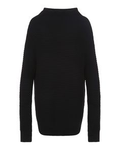 Discover the ultimate oversized chunky knit for off-duty styling. With a funnel neck and asymmetric seamline for a high fashion aesthetic. The extra soft wool blend knit provides insulating warmth, and a loose fit and dropped hem creates a comfortable fit. Thumbholes on each cuff further insulate against the cold.