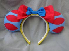 Snow White inspired mouse ears by EarsByLeahRose on Etsy, $27.00
