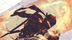 Black Steel Genji ( overwatch), Anato Finnstark on ArtStation at https://www.artstation.com/artwork/6OBd0