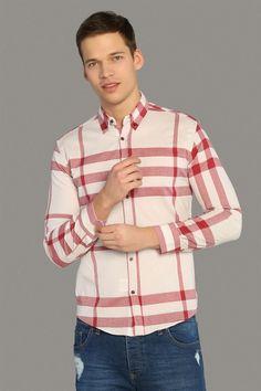 8585bf6630334 Erkek Ekose Gömlek Kırmızı | ifondi