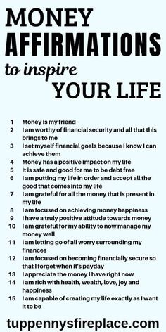 I love these positive money affirmation mantras. Do these every day and watch how the law of attraction will manifest itself in your life. Practice& The post 15 Money Affirmations That Will Inspire Your Life Affirmations Positives, Positive Affirmations Quotes, Wealth Affirmations, Morning Affirmations, Affirmation Quotes, Positive Quotes, Affirmations For Money, Christian Affirmations, Healing Affirmations