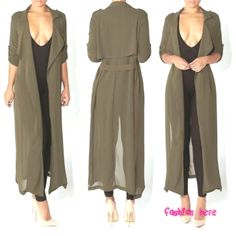 Coat Women Fashion Casual Women's Trench Coat Chiffon Long Outerwear Summer Female Wrap Loose Clothes For Lady Good Quality Source by jeanmarclt Chiffon, Langer Mantel, New Fashion, Womens Fashion, Trends, Coats For Women, Women Wear, Spring Summer, Female