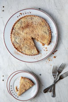 Classic apple pie gets an upgrade with flaky sweet crust with housemade apple butter and almond cream. The result is a delicate, refined tart with a creamy interior and a concentrated spicy flavor.
