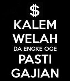 Gambar Kata Lucu KEEP CALM Versi Bahasa Sunda