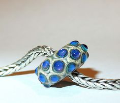Luccicare Lampwork Bead - Drops -  Lined with Sterling Silver by Luccicare on Etsy