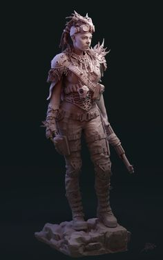 It was inspired by Mad Max and other apocalyptic films. I decided to rework an old project I had for fun. Zbrush Character, Female Character Concept, 3d Character, Character Design, Post Apocalyptic City, Post Apocalyptic Costume, Fantasy Comics, Fantasy Art, Fantasy Women