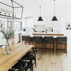 70 Painting Kitchen Cabinets ~ My Dream Home Farmhouse Kitchen Island, Kitchen Dining, Kitchen Decor, Dining Room, Kitchen Ideas, Kitchen Inspiration, Boho Kitchen, Kitchen Trends, Dining Chairs