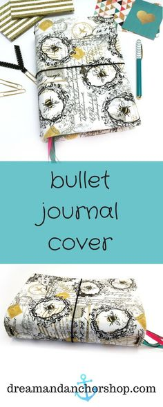Plan you life in this bumblebee bullet journal cover. Diy Notebook, Notebook Covers, Journal Covers, Handmade Notebook, Fabric Journals, Art Journals, Creative Notebooks, Memory Journal, Types Of Planners