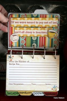Maya Road Design Team: ~Farmhouse Recipe Book~ Great Teacher Gift!