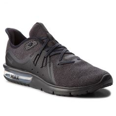 Cipő NIKE - Air Max Sequent 3 921694 010 Black/Anthracite Nike Air Max, Under Armour, Gold Rings, Sneakers, Watches, Shoes, Black, Fashion, Wrist Watches