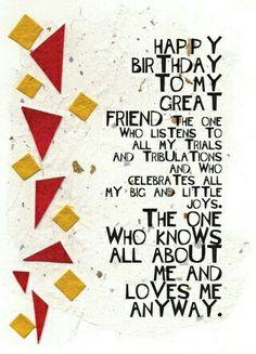 Super Birthday Wishes For Bestfriend Bff Cards Ideas Happy Birthday Quotes For Him, Birthday Quotes For Best Friend, Birthday Girl Quotes, Happy Birthday Friend, Happy Birthday Cards, Birthday Greetings, Birthday Sentiments, Bday Cards, Belated Birthday
