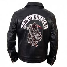 Sons Of Anarchy Black Faux Leather Jacket