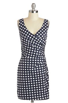 ModCloth retro wrap dress, add a sweater and some boots for Fall!