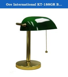 Ore International KT-188GR Bankers Lamp, 12.5-Inch Height, Green. From classic to contemporary and expected to eclectic, Ore International's immense collection of household furnishings, lighting, and accessories offers exceptional value on upscale quality and style. The company's traditional desk lights and beautiful shelving options bring aesthetics and function to home or office, while a complete line of indoor/outdoor accents and accessories features everything from calming water...